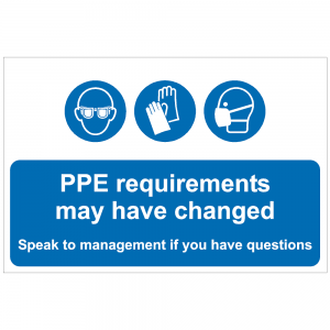 COV02 - PPE requirements may have changed 600 x 400mm