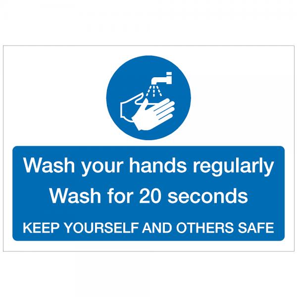 COV03 - Wash hands regularly 420 x 297mm