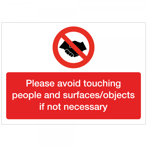 COV12 - Avoid touching people 420 x 297mm