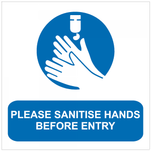 COV20 - Please sanitise hands