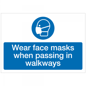 COV23 - Wear face masks when passing