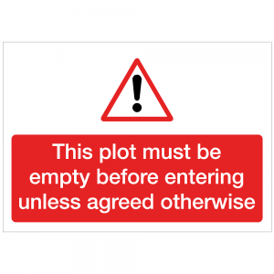 COV24 - This plot must be empty before entering