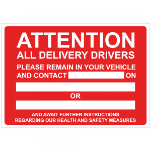 Attention all delivery drivers