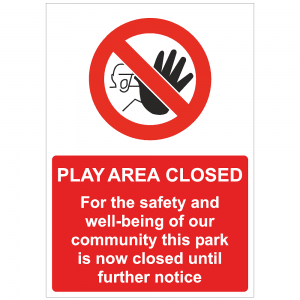 COV45 Play area closed